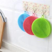 Buy cheap New Silicone Dish Washing Double Sided Scrubber Kitchen Cleaning Brush Pad Tool from wholesalers