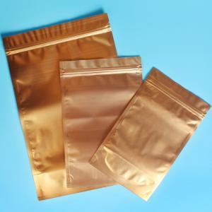 Buy cheap Plastic Zipper Coffee Packaging Bags , Three Layer Laminated Aluminium Bag For Tea product