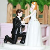 Quality porcelain A Cinderella Moment Couple Figurine ceramic Wedding Cake Topper for sale