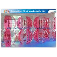 Buy cheap Pink Human Inflatable Bubble Ball / Inflatable Ball Suit Soccer For Rental Business product