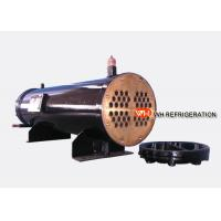 Buy cheap 122KW Industrial Shell And Tube Water Cooled Condenser, Refrigerator Condenser Tube product