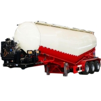 China 2 Alex 3 Alex V Type Used Cement Bulk Semi Trailer on sale