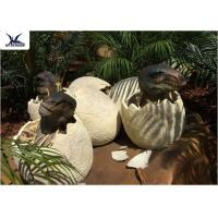 Buy cheap Playground Park Dinosaur Garden Statue Hatching Animatronic Dinosaur Egg Decoration product