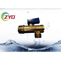 Buy cheap CE Angle Brass Plumbing Valves Green Aluminum Handle S.S Filter Net product