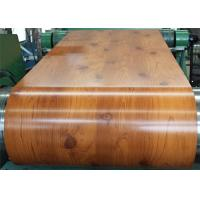 China PVC Laminated Metal Sheet Wood Grain VCM Color Coated Steel Coil Strong Toughness wholesale