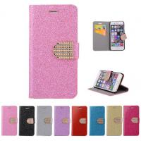 Buy cheap Glitter PU leather wallet Case For iPhone 4 5s 6 plus 7 SAMSUNG galaxy s5 s4 S6 S7 NOTE 7 3 5 product