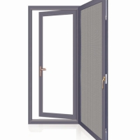 Buy cheap Screen Integrated Aluminum Swing Doors Casement Double Glass Curved Inner Sash product