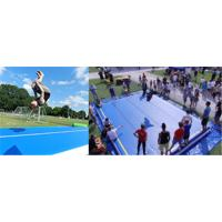 Buy cheap 12*4m Outdoor In Groun Air Track Mat Logo Printable No Noise Leak Proof product