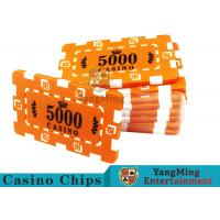 Custom Design Cheap Casino Poker Chips , ABS Plastic Numbered Poker Chips