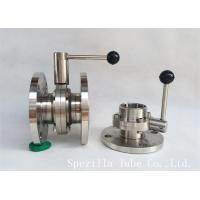 """Buy cheap 1"""" TP316L Sanitary Stainless Steel Valves And Butterfly Vavles ASTM A270 product"""