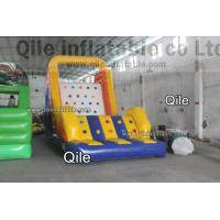 China Large-Scale Inflatable Rock Climbing Wall With Slde And Pool For Entertainment on sale