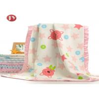 China Swaddle Warm Baby Blanket Printed Bamboo Cotton Azo Free No Fluorescer on sale