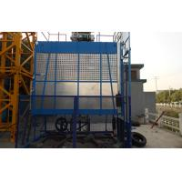 Quality 60m Double Car Construction Material Hoist with Schneider Inverter 45kw for sale