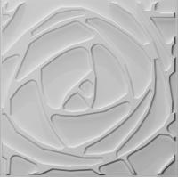Buy cheap 3dboard wall decor panels 500*500 fiber eco wave panels with original colcor PEONY product