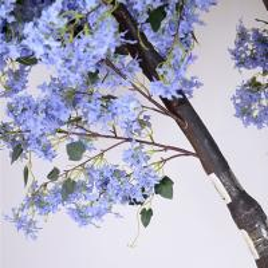 Buy cheap Soft Artificial Flower Tree Jacaranda Wood Bule Color Sakura Tree Branch product