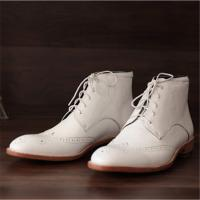 Buy cheap Handmade goodyear men boots shoes genuine leather from wholesalers
