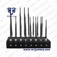 China Multi-bands 14 Channels  Cellular Cell Phone Signal Jammer WiFi Blocker UHF VHF 3G  4G Phone Signal Jammer on sale