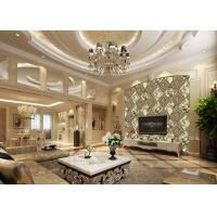 Buy cheap Luxurious Background Removable Reusable Wallpaper Diamond Marble And Wooden Pattern product