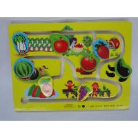 Buy cheap Customized Quality Children Mini Vegetables and Fruits Wooden Toy Slot Car Racing Track product