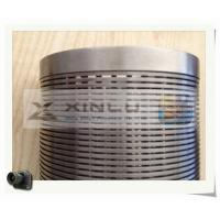 Buy cheap Non Clogging Slot Profile Wire Screen , Wedge Wire Filter For Industrial product