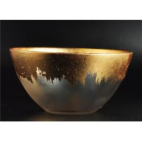 Buy cheap Clear Bowl Shape Glass Candle Holder with Golden Coating for Wedding Decor product