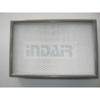 Buy cheap 0.3 Micron Clean Room HEPA Filters , 24 x 48 HEPA Filter With FM Approval product