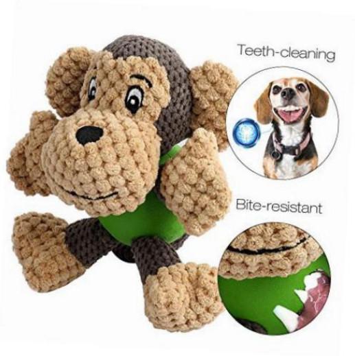 Durable monkey shaped plush pet toys squeaky dog toys for Best plush dog toys for aggressive chewers