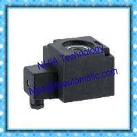 China Professional DIN4.8 Magnetic Coil 24V DC 220V AC Solenoid Coil in Black on sale