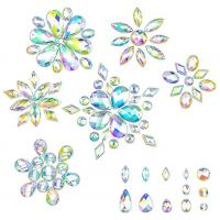 China 14 Cut Faces Golden Foil Sew On Rhinestones Various Size For Bags / Purse on sale