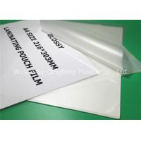 Buy cheap Clear A4 Size Laminating Pouch Film Lamination Pouches For Document product