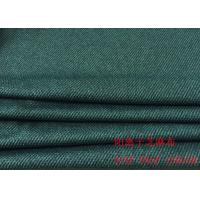 Buy cheap 88%P 12%SP Cotton Knit Fabric Dark Blue Striped Jacquard Fabric For Clothes product