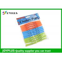 Buy cheap PP Material Colored Plastic Clothespins Set Customized Color / Size Available product