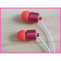 Buy cheap Red Heavy Metal Earphones Use For Iphone With Microphone And Volume Control from wholesalers
