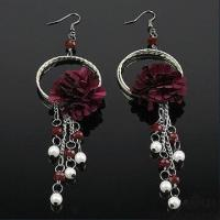 Buy cheap 14.2cm Fashionable Drop Earrings, Made of Metal and Plastic, Various Colors are Available product