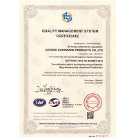 Juhong Hardware Products Co.,Ltd Certifications