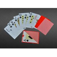 Buy cheap Home Plastic Coated Playing Cards , 100% Plastic Custom Playing Cards PMS Color product