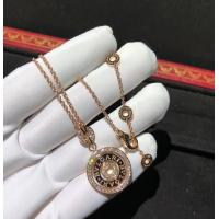 Buy cheap Charming Bvlgari Cerchi Astrale 18K Rose Gold Diamond Necklace Customization Available product