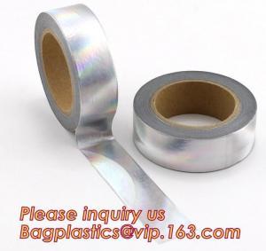 Buy cheap foil washi tape holographic foil washi tape,Gold Laser Decorative Reflective Customized Washi Tape,Decorative Adhesive T product