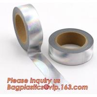 Buy cheap foil washi tape holographic foil washi tape,Gold Laser Decorative Reflective from wholesalers