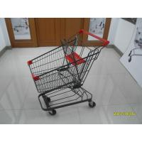 Buy cheap Grey powder coating 80L Supermarket Shopping Trolley shopping cart  With 4inch PU casters product