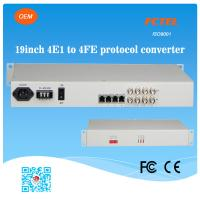 Buy cheap FCTEL 19 inch 75 Ohm 4E1 to 4 Ports 10/100Mbps Ethernet Isolated Protocol Converter from wholesalers