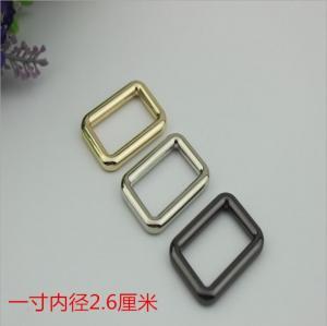 Buy cheap Wholesale supplies handbag hardware 26 mm metal square gold messenger buckle product