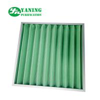 Buy cheap Synthetic Fiber Material G4 Pleated Panel Filter 595x595x46mm Aluminum Frame product