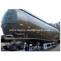 Buy cheap Carbon steel Durable Bulk Cement Power Trailer 75Tons and 78CBM , Silo Trailer with warranty product