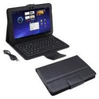 Buy cheap Slim Adjustable stand grain leather Samsung Galaxy Tab Case with Bluetooth Keyboard product