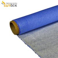 China Heat Insulation Silicone Coated Fiberglass Fabric For Fire / Smoke Curtain on sale
