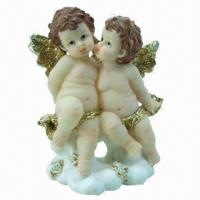 China Polyresin craft in baby angel figurine design, suitable for promotional and gift purposes on sale