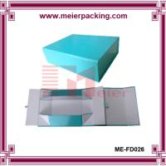 Buy cheap Shoe box, Paper shoe boxes, Blue foldable paper packaging box ME-FD026 product
