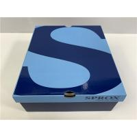 Size Color Customized Mens Shoe Boxes With Lids Golden / Silver Hot - Stamping