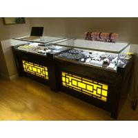 Buy cheap Glass LED Light Jade Display Jewelry Store Showcases Different Material Available product